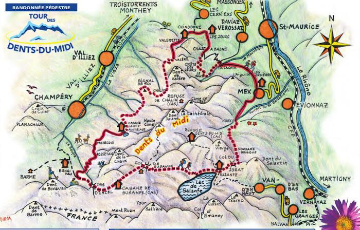 Le Tour des Dents du Midi, sept. 2021